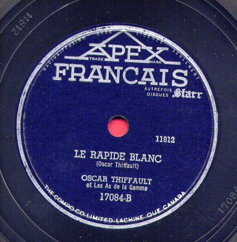 Chanson Le Rapide Blanc De Oscar Thiffault
